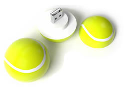 custom shape usb tennis ball