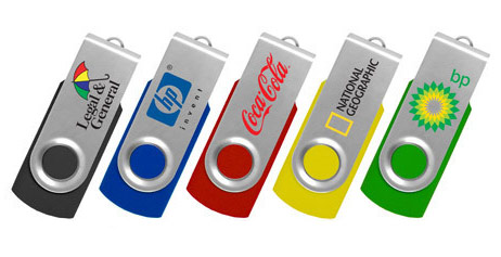 Printed Swivel USB Drives